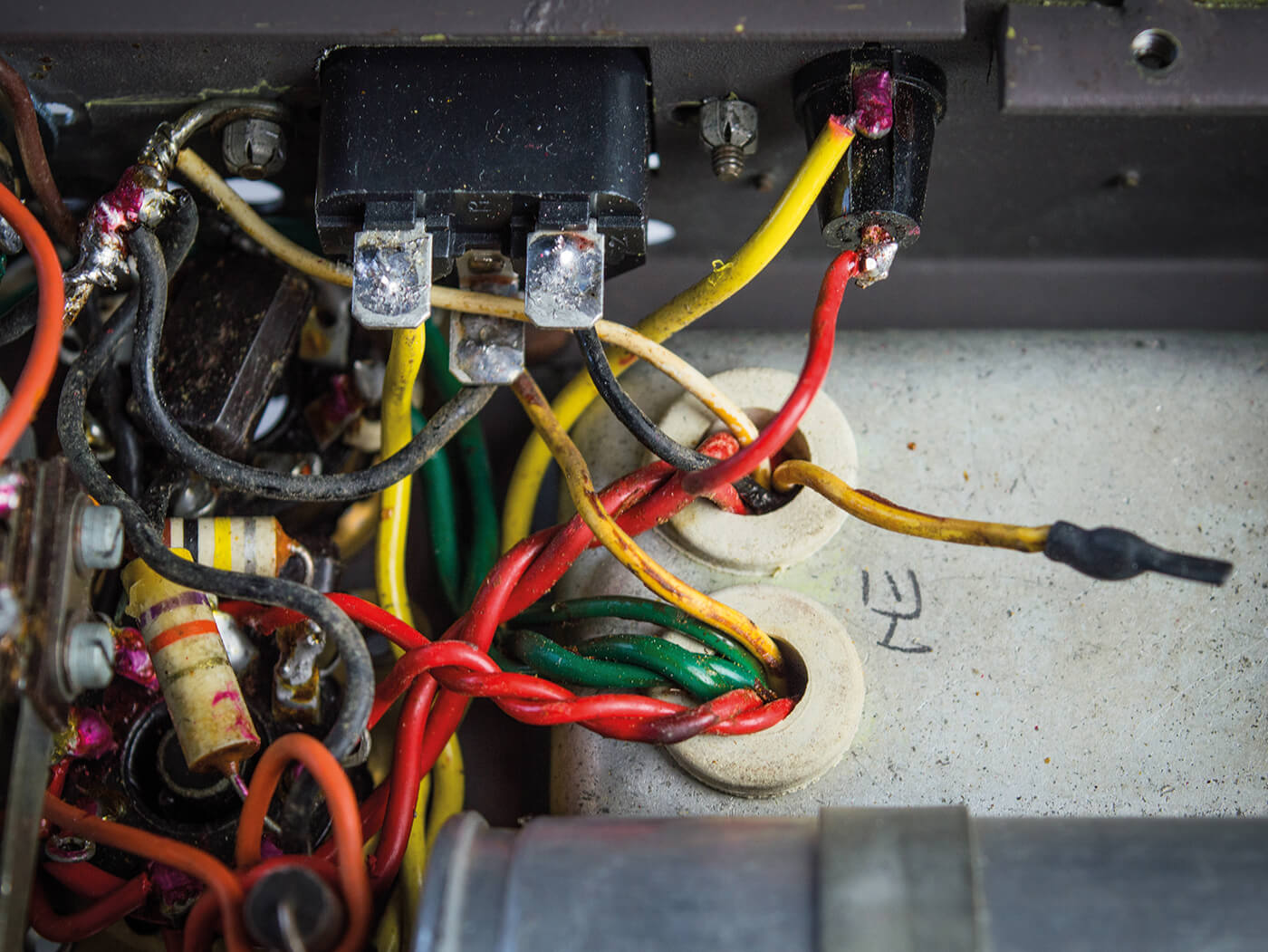 DIY Bell & Howell Filmosound Amp IEC Socket