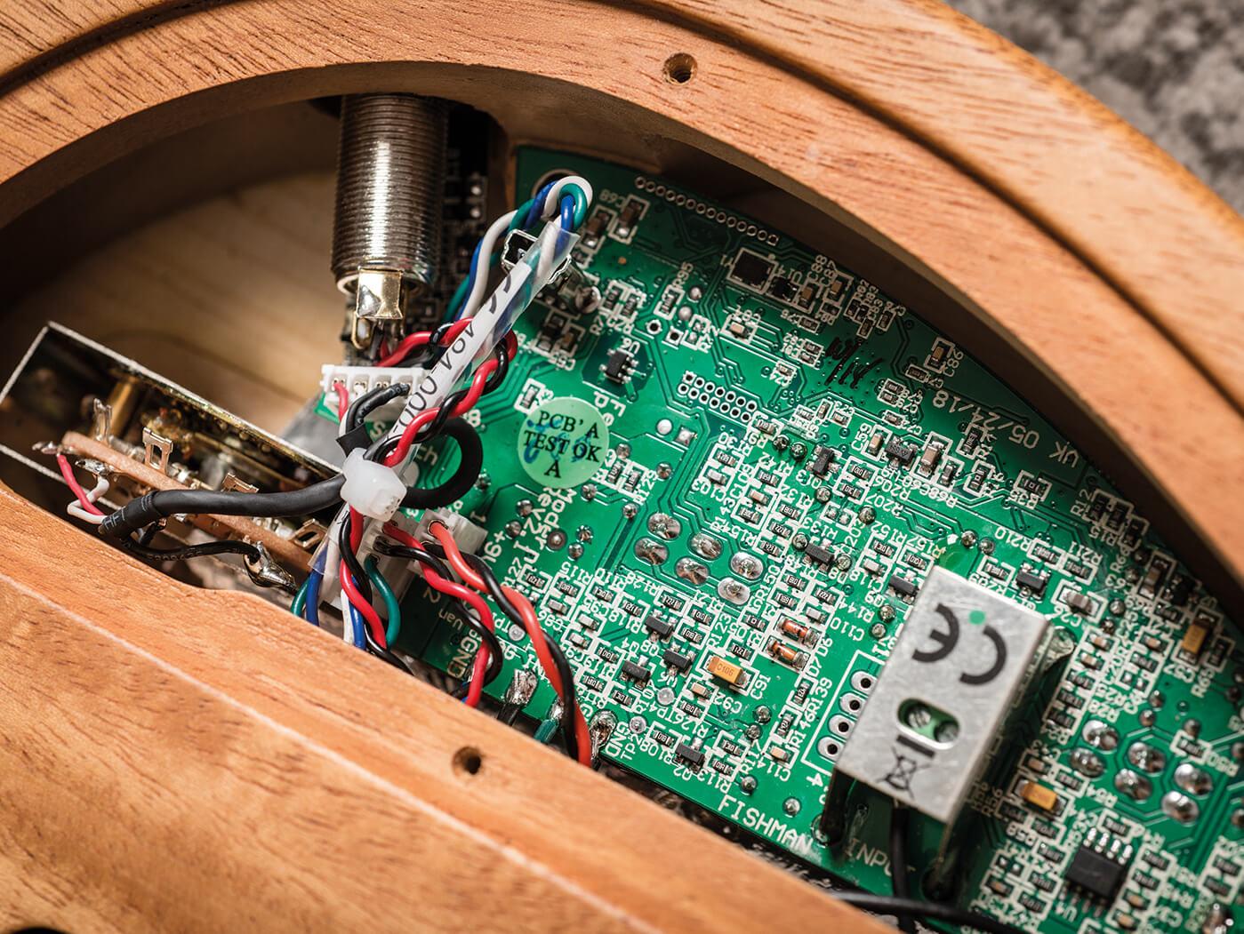 Fender American Acoustasonic electronics