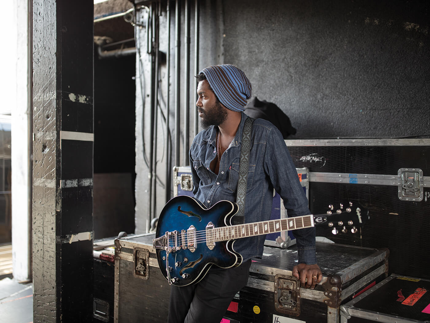 Gary Clark Jr Interview epiphone casino shot