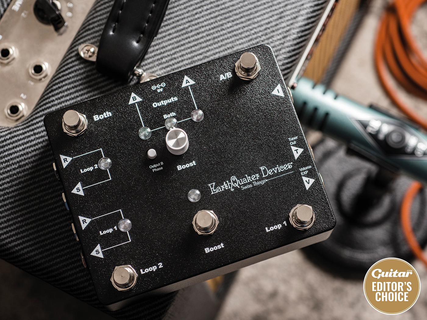 EarthQuaker Devices Swiss Things Pedalboard Reconciler review feature