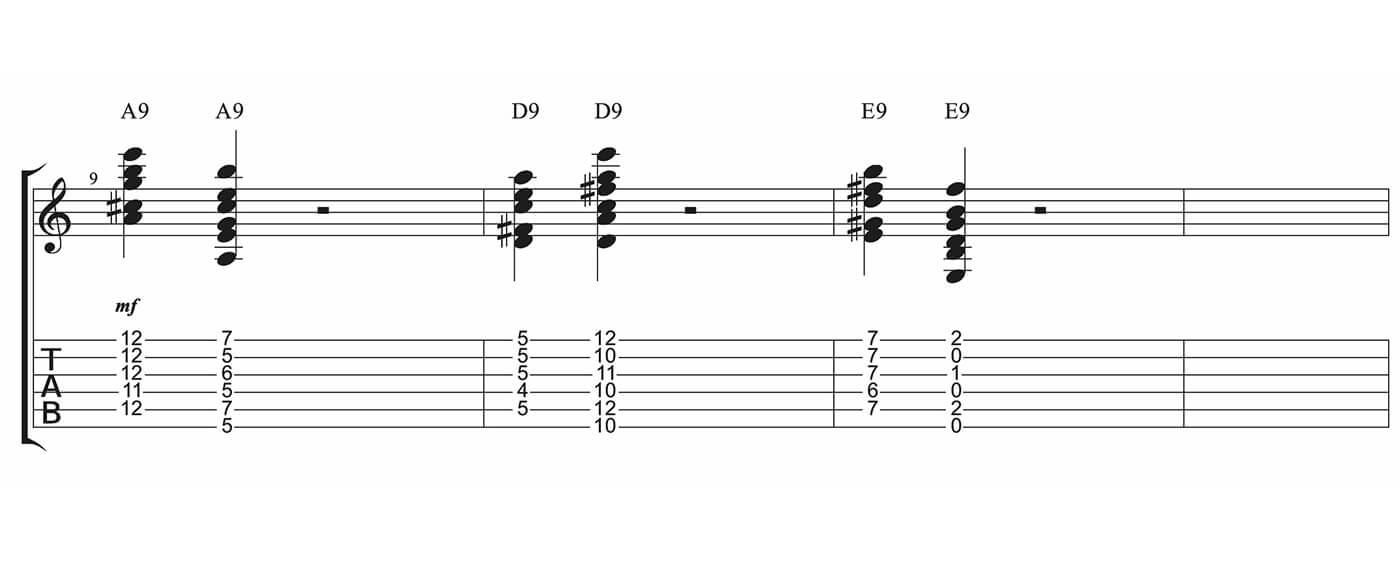 Essential Blues Part Three 9th chords
