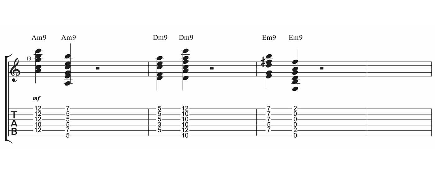 Essential Blues Part Three Minor 9th chords
