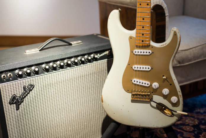 David Gilmour's white Stratocaster