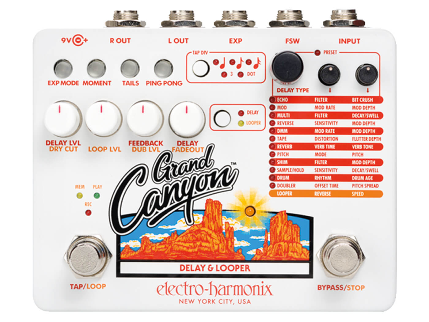EHX Grand Canyon top