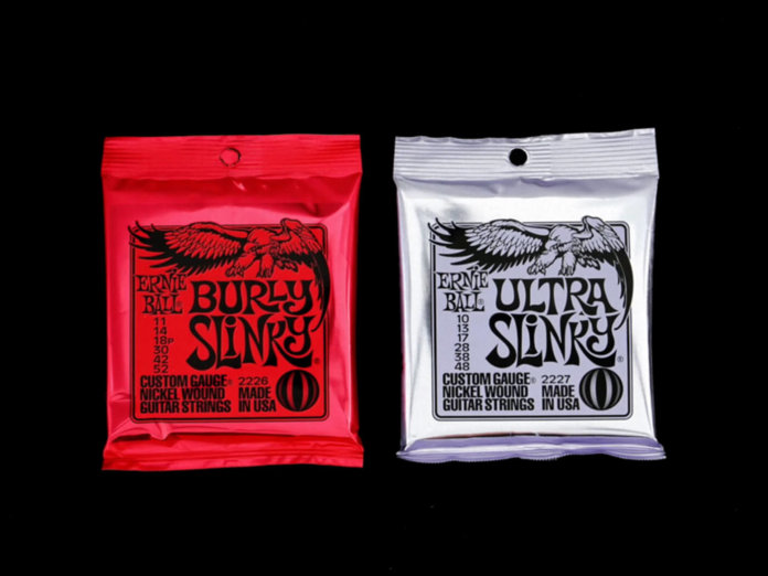 Ernie Ball Burly and Ultra Slinky Strings
