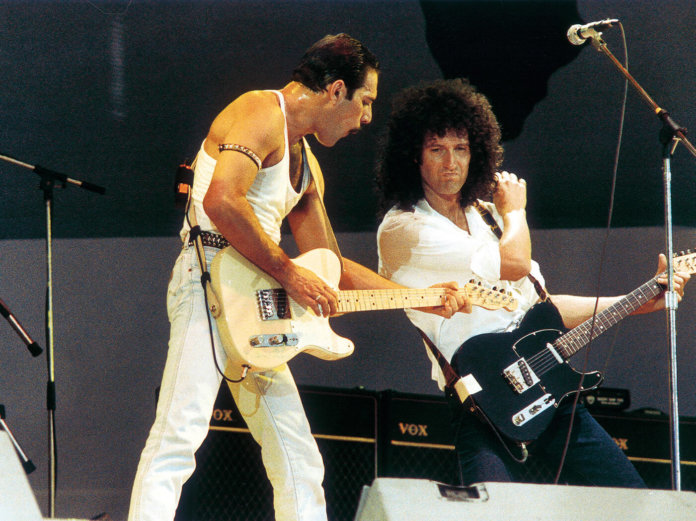 Fredie Mercury Brian May Live Aid 1985