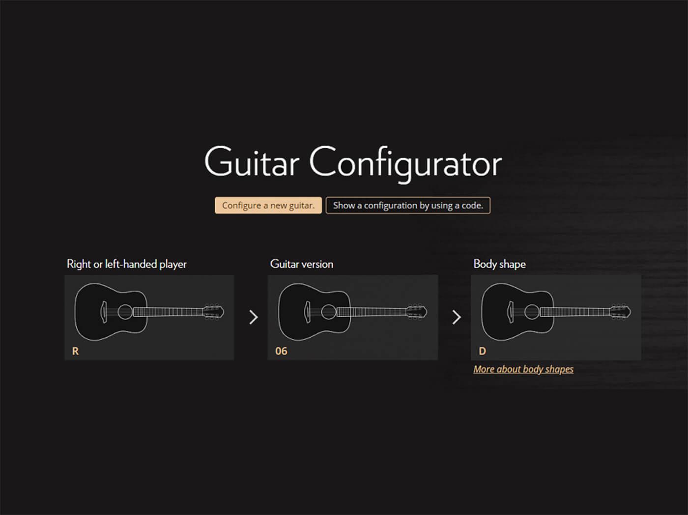 Furch Online Guitar Configurator