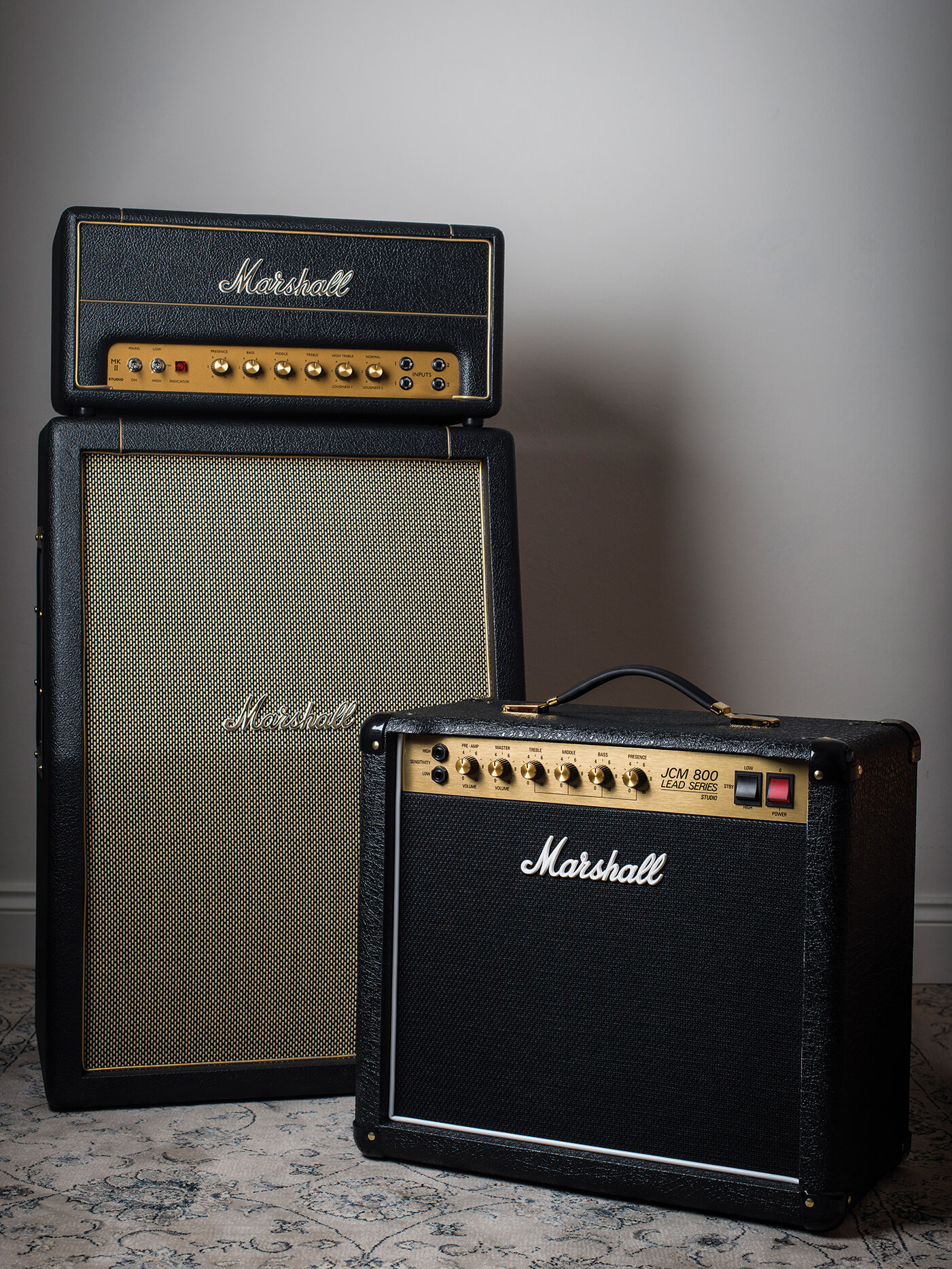 Marshall Studio Classic two amps family shot