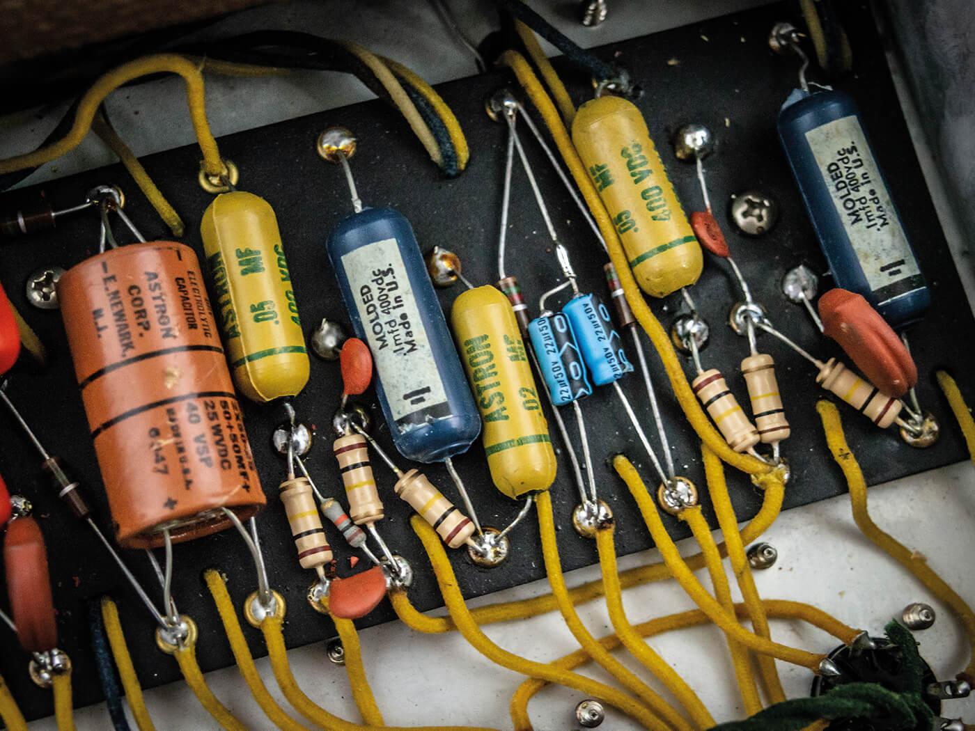 1961 Fender Pro Amp capacitors