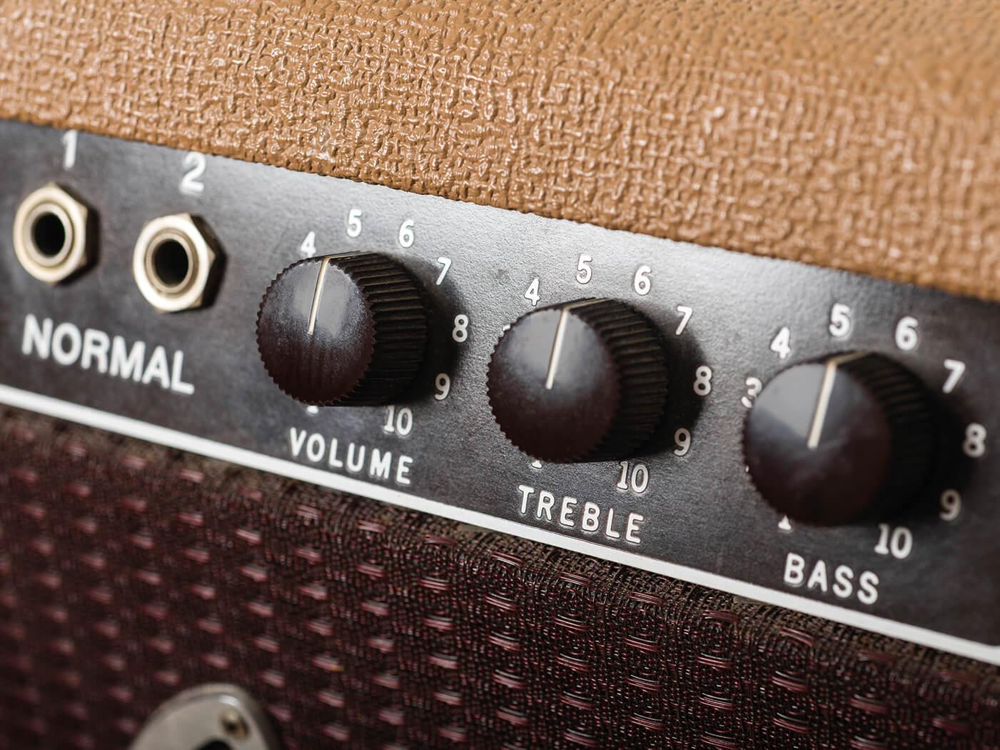 1961 Fender Pro Amp controls