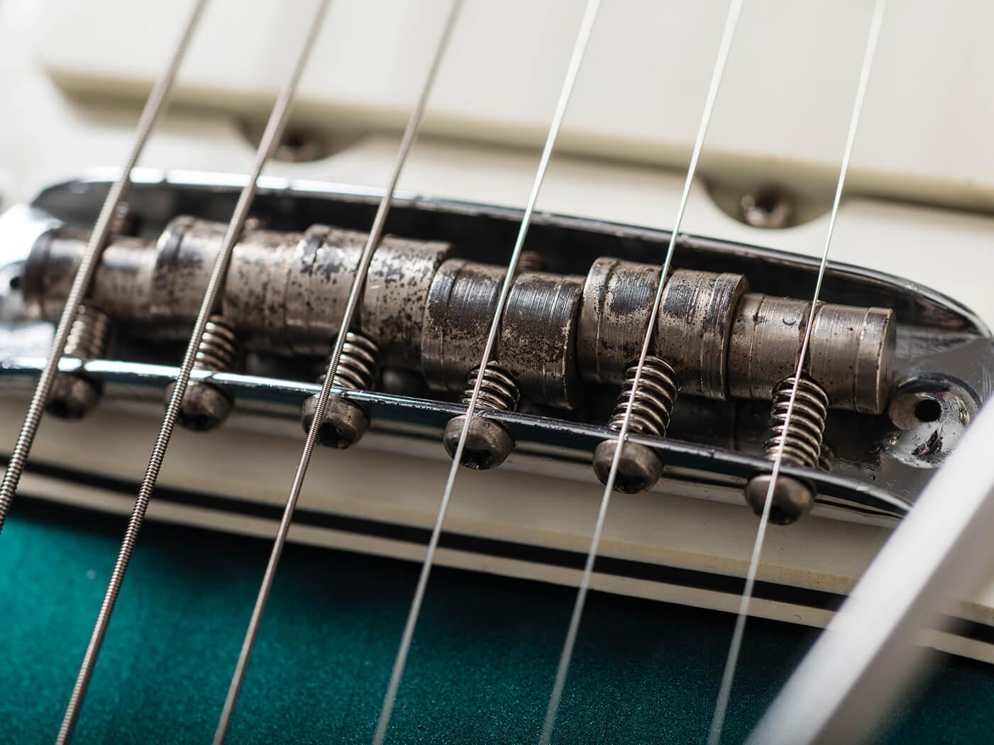 Fender 1966 Jazzmaster Ocean Turquoise mustang bridge