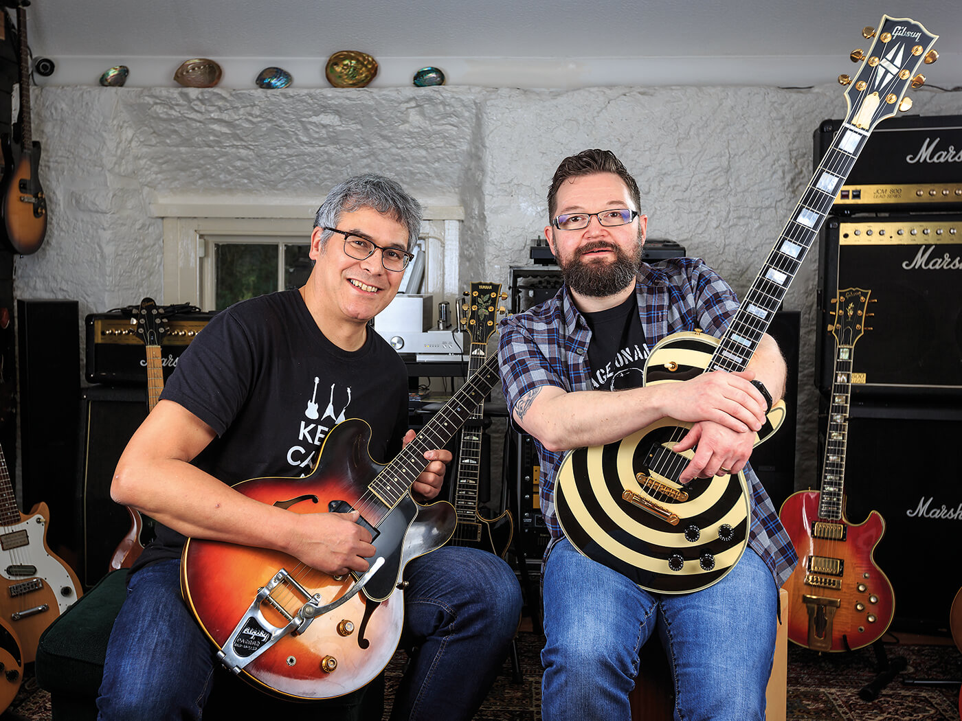 02321481bd1 Jay Edema and David McArthur s guitar collection is as unusual as it ...