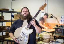 Dennis Fano with a Serus T in Novo's Nashville workshop