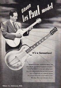 vintage gibson les paul advertisement