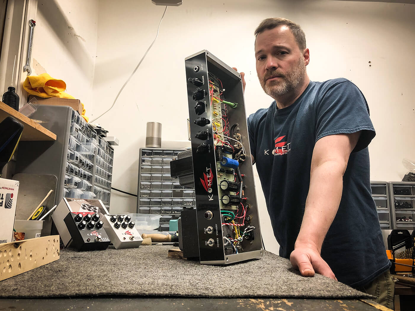 Interview Komet Amps circuit assembly