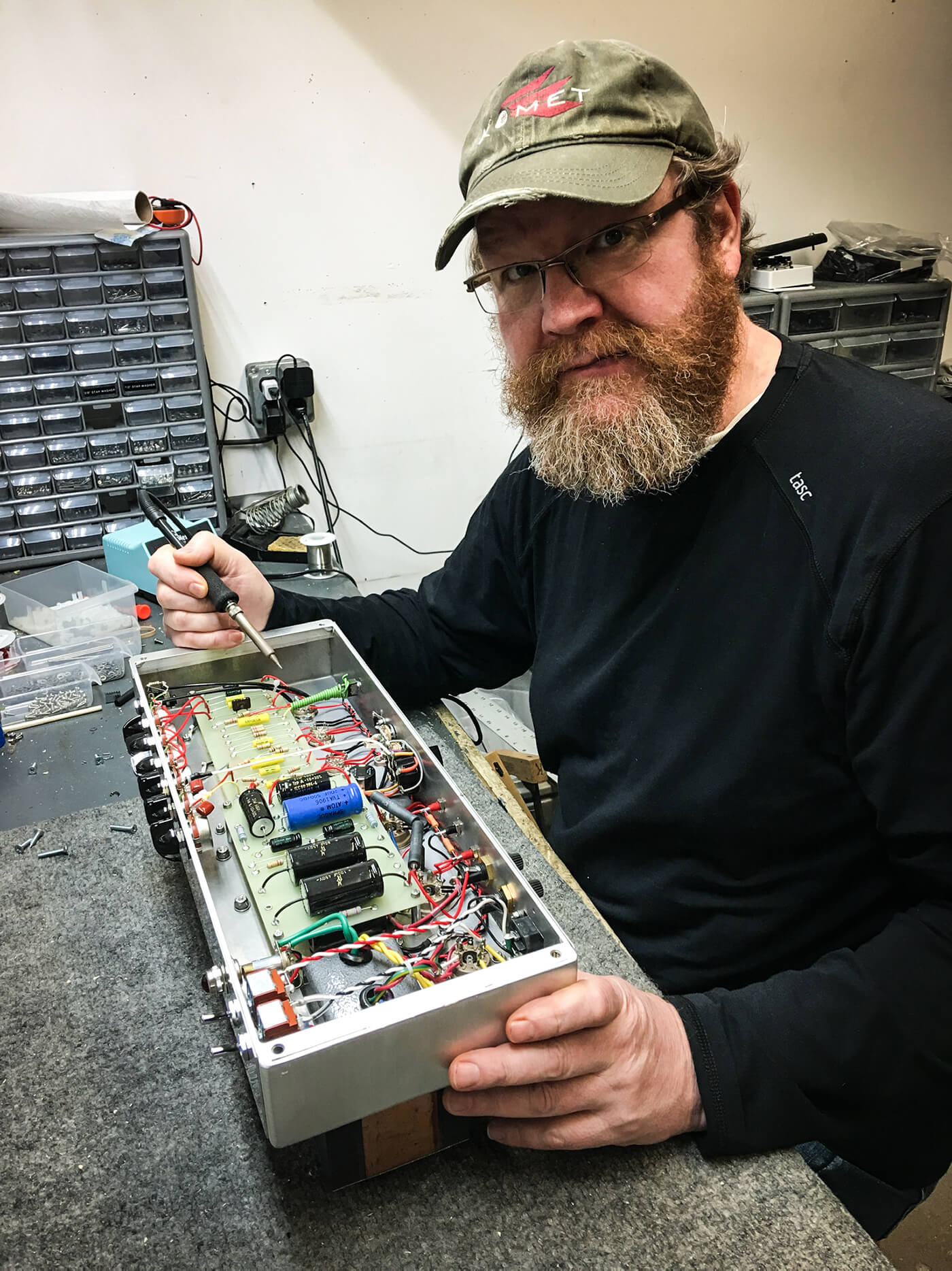 Interview Komet Amps components and wiring