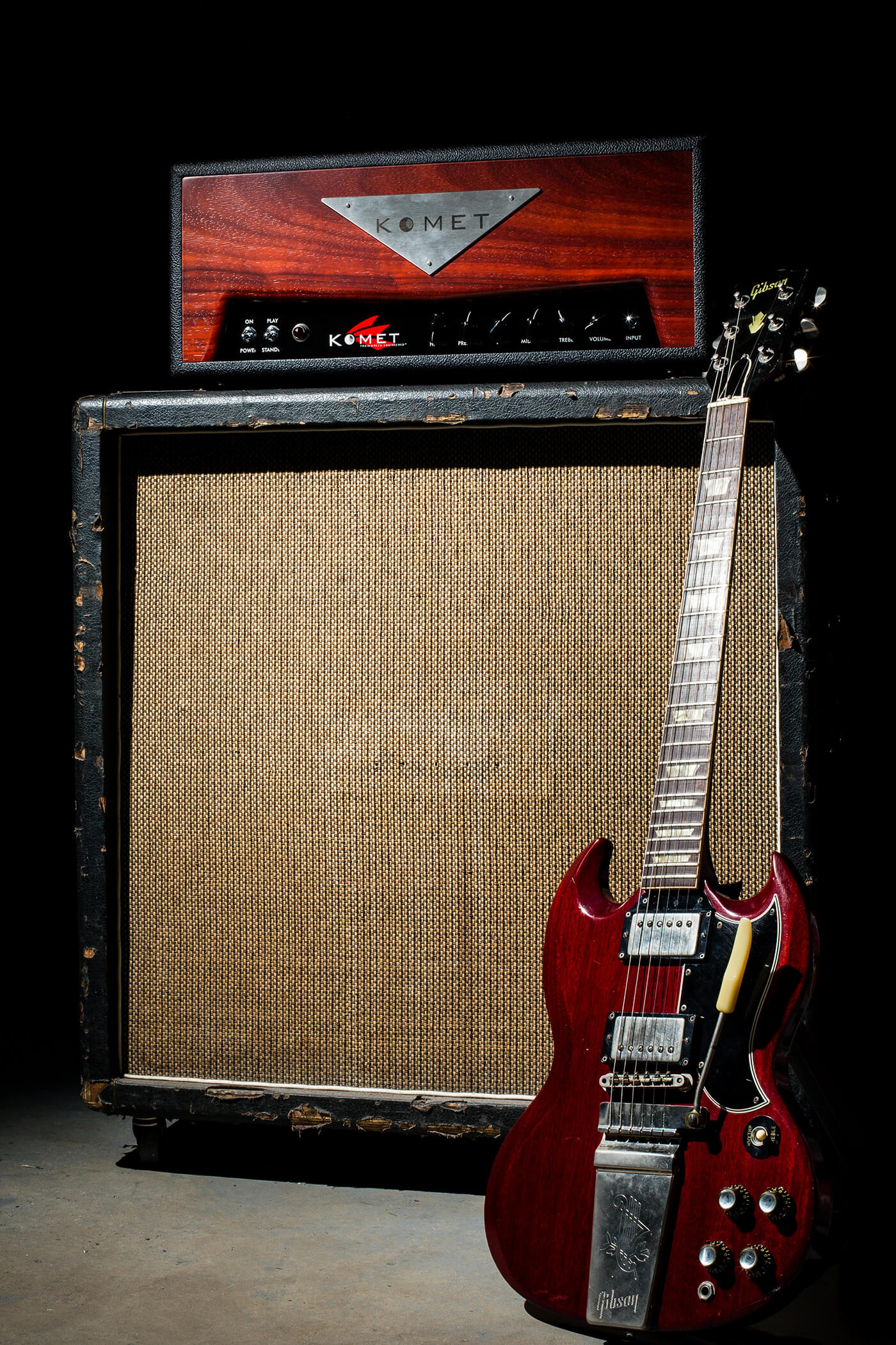 Interview Komet Amps Concorde model with Gibson SG