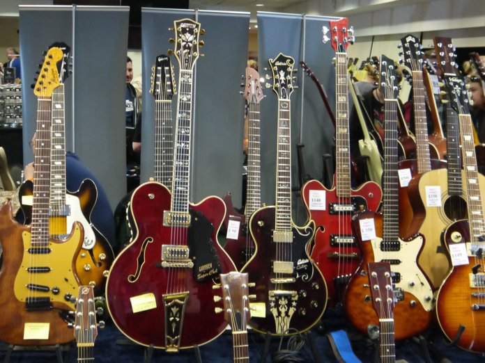 north west guitar show display