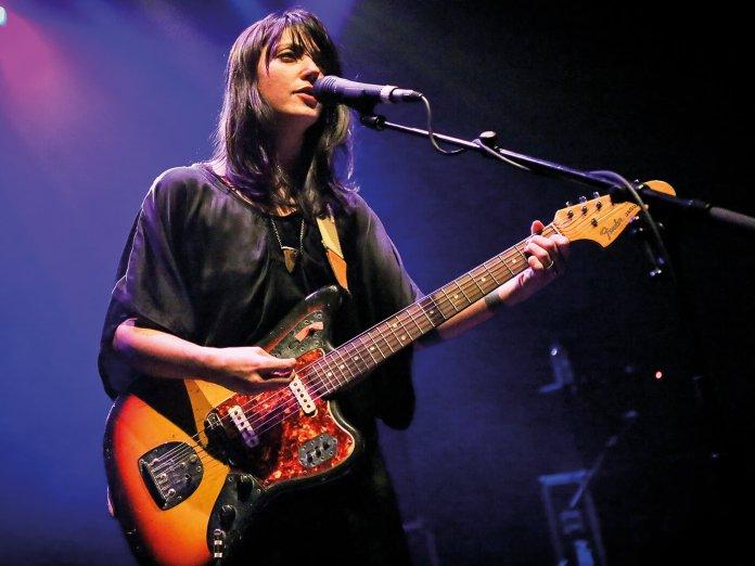 Sharon Van Etten with her Fender Jaguar