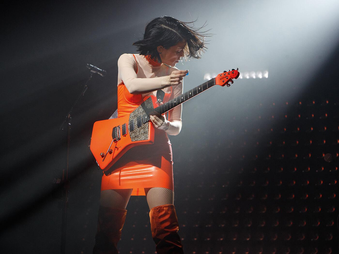 st vincent live music man signature guitar