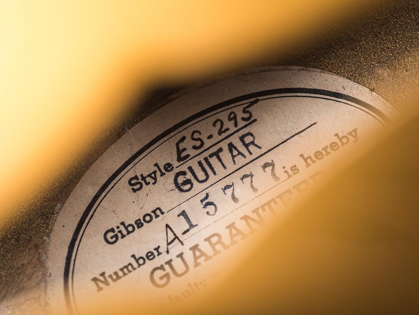 VBT 1953 Gibson ES-295 serial number