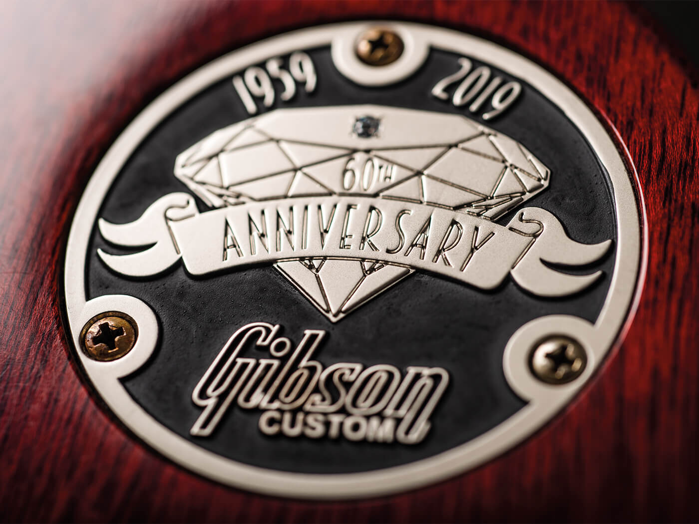 Gibson Custom 60th Anniversary 1959 Les Paul Standard commemorative plate