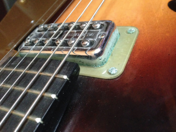 electric guitar pickups green corrosion