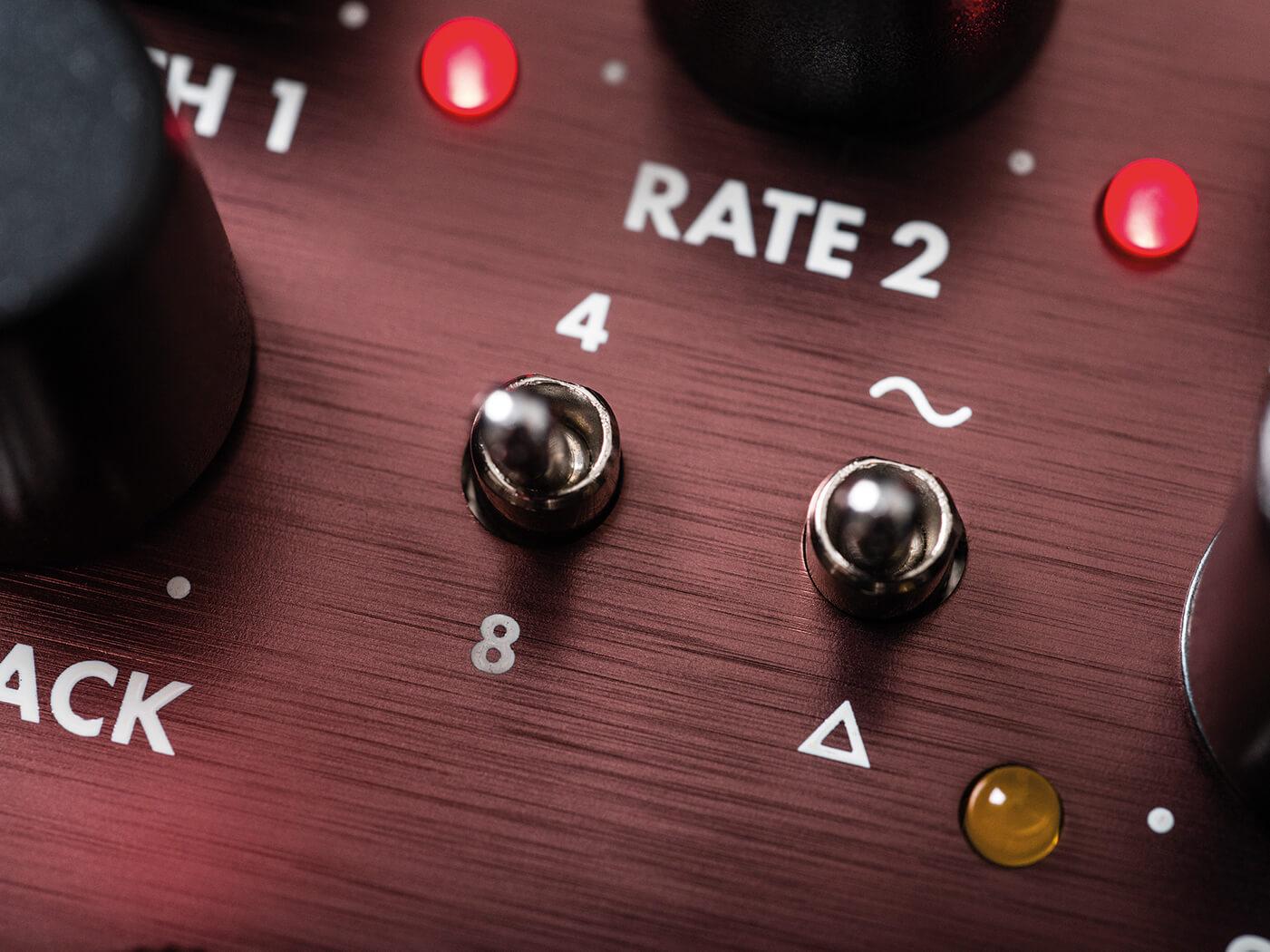 Review Fender Lost Highway phaser speed waveform switch