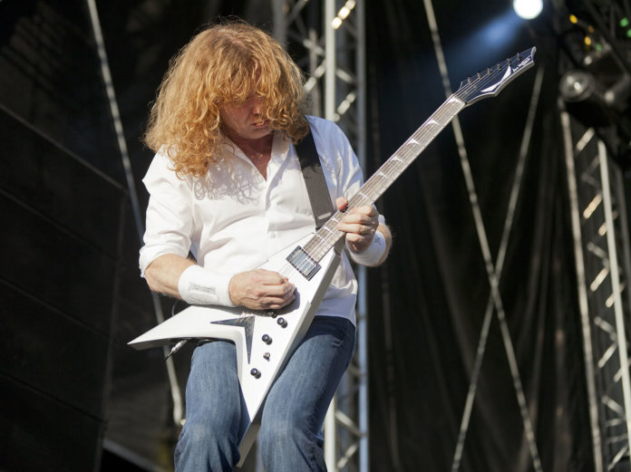 Dave Mustaine live on stage