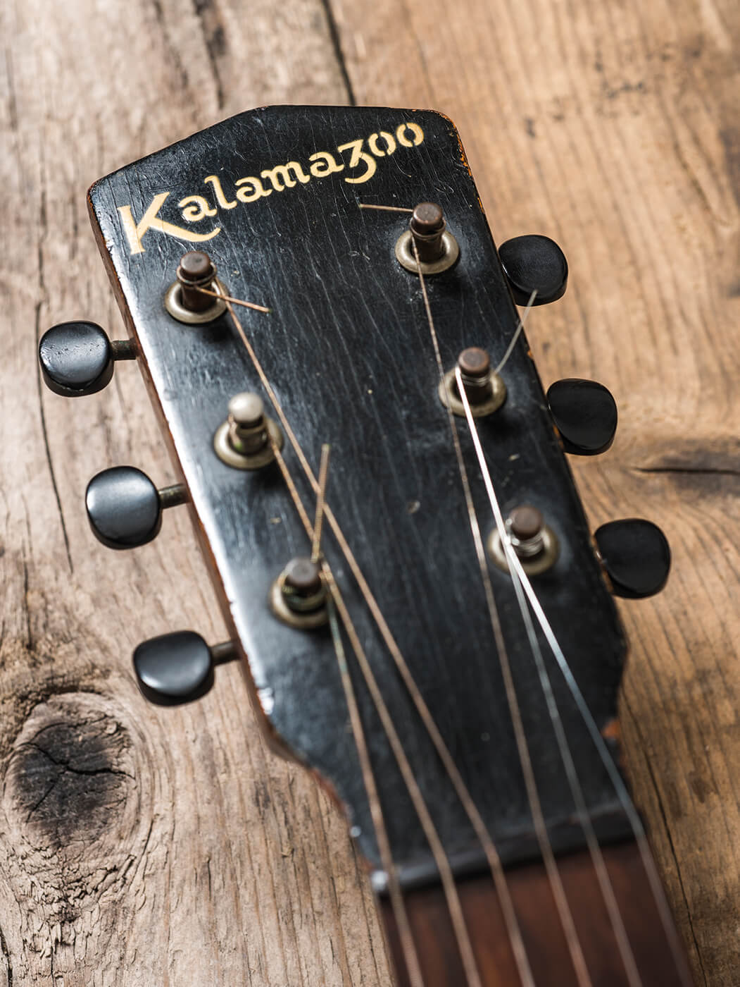 Kalamazoo KG-14 headstock portrait