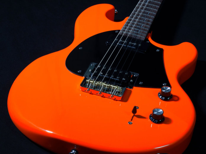 Shergold Guitars Tango Fandango Masquerader angled black background