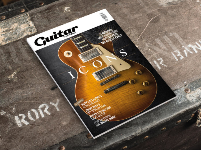 guitar magazine july issue rory gallagher gibson les paul 1959 standard
