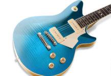 Morifone Quarzo guitar body angled