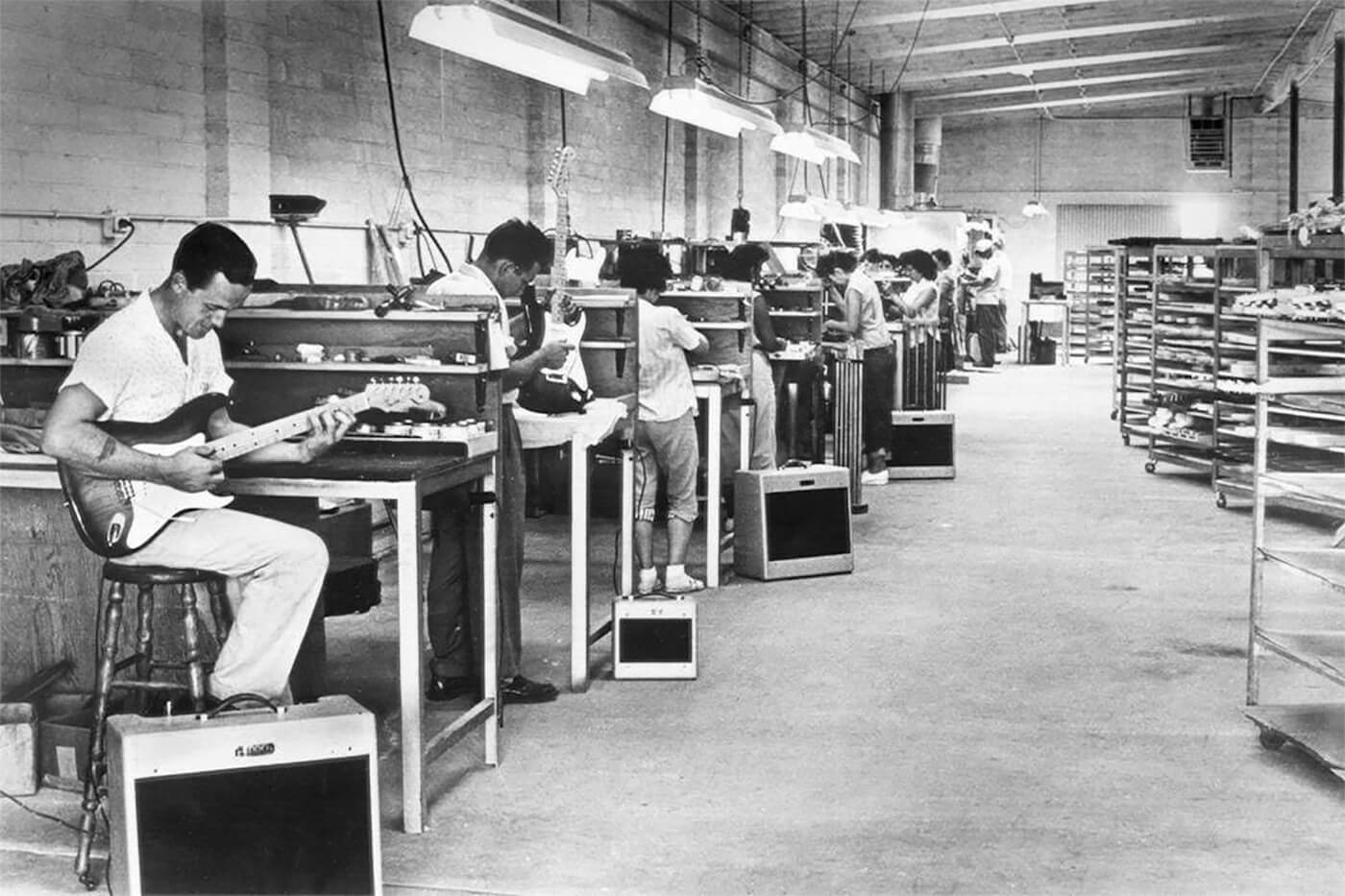 Fender Fullerton Factory Floor 1950s