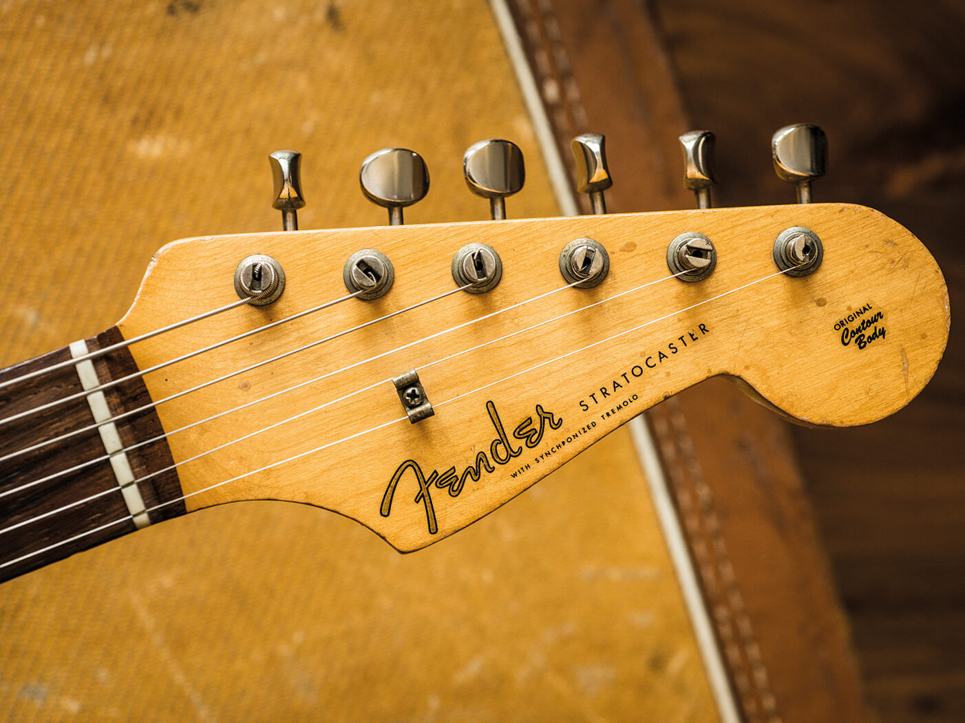 Fender Stratocaster distinctive headstock