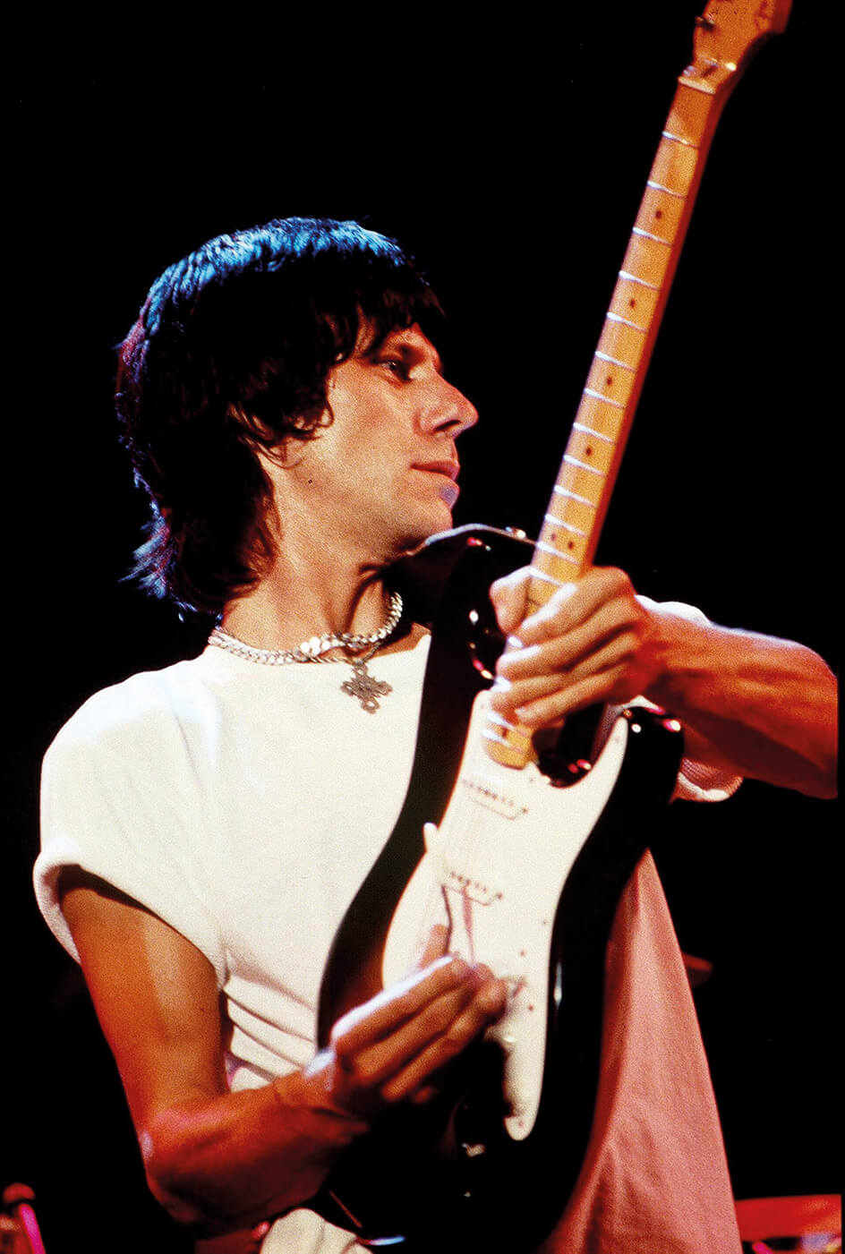 Jeff Beck with a Fender Stratocaster