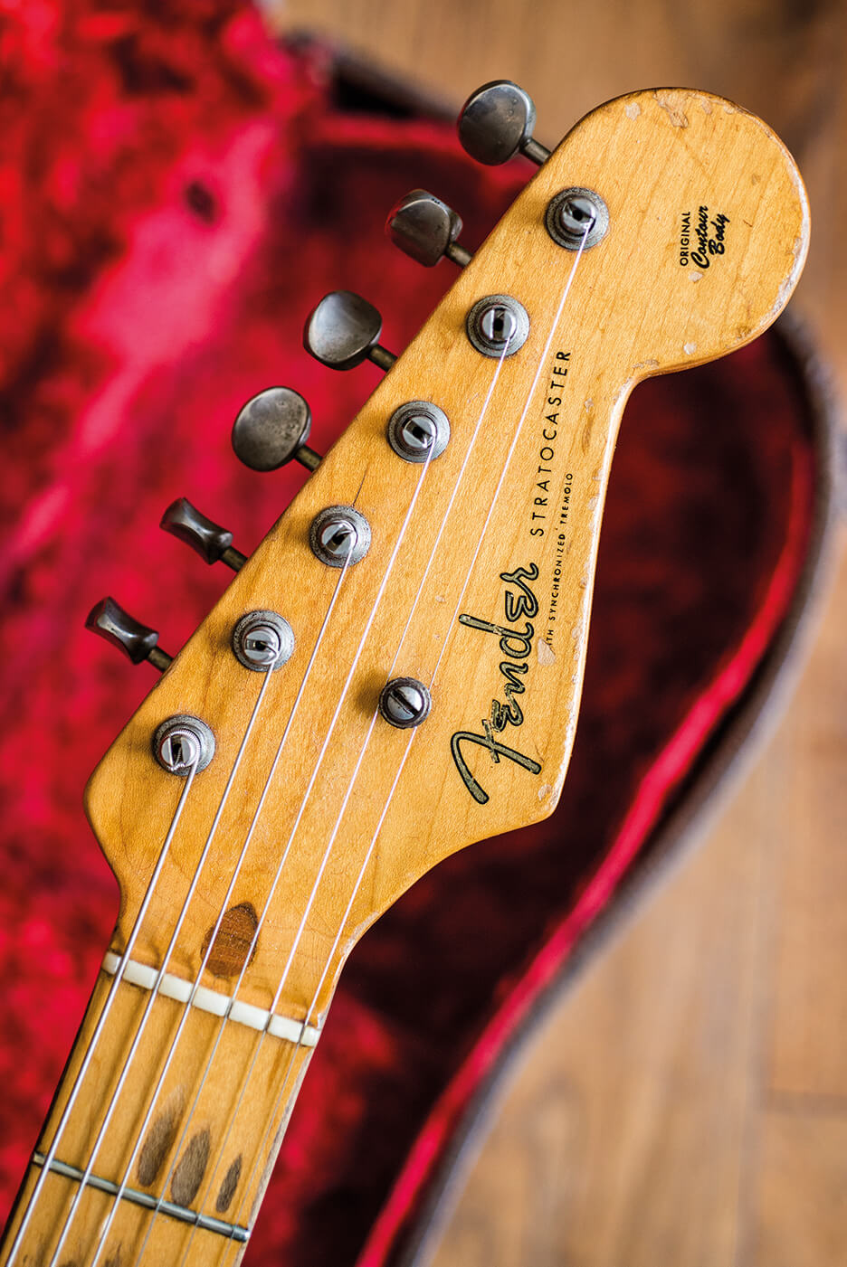 Fender Strat vintage sunburst headstock