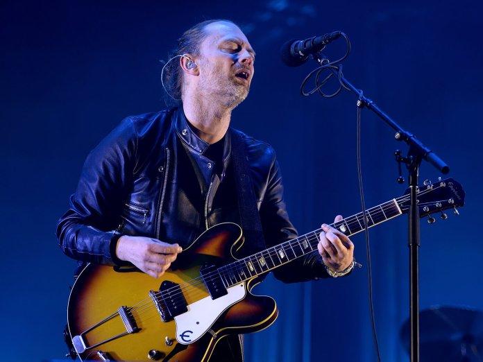 Radiohead Thom Yorke performing live