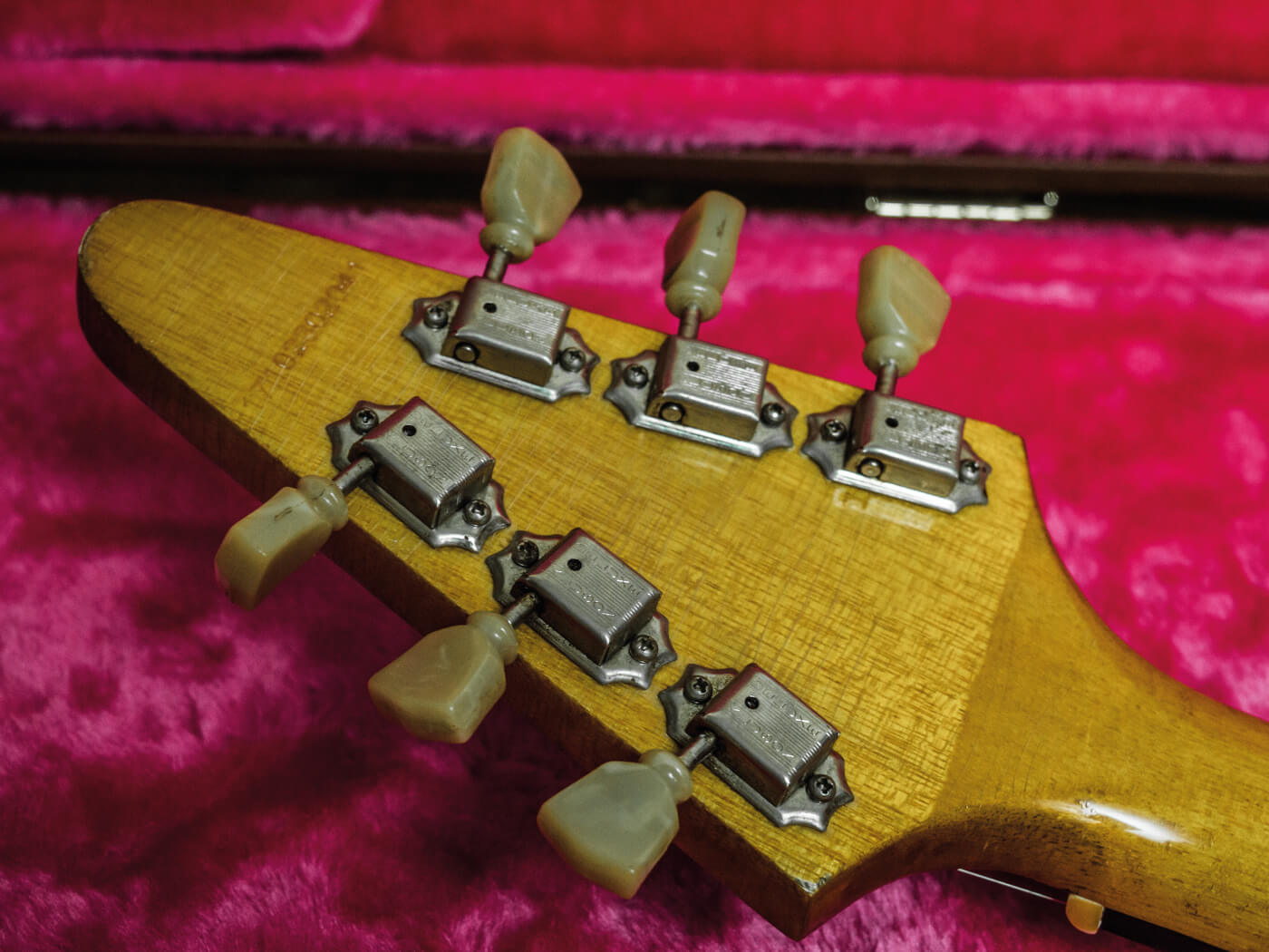 DIY Flying V conversion headstock