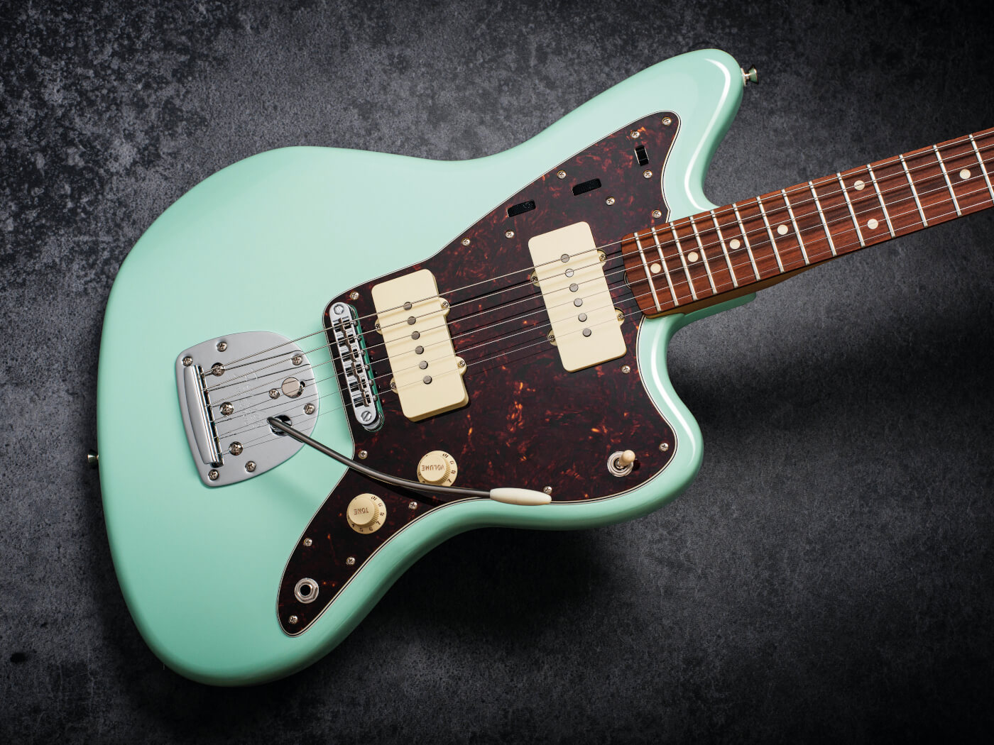 The Vintera '60s Jazzmaster modified in Surf Green
