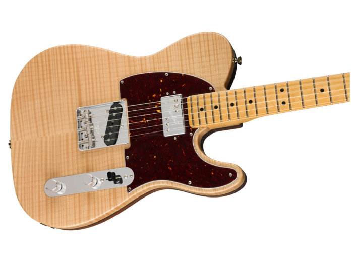 Fender Rarities Flame Maple Top Chambered Tele angled