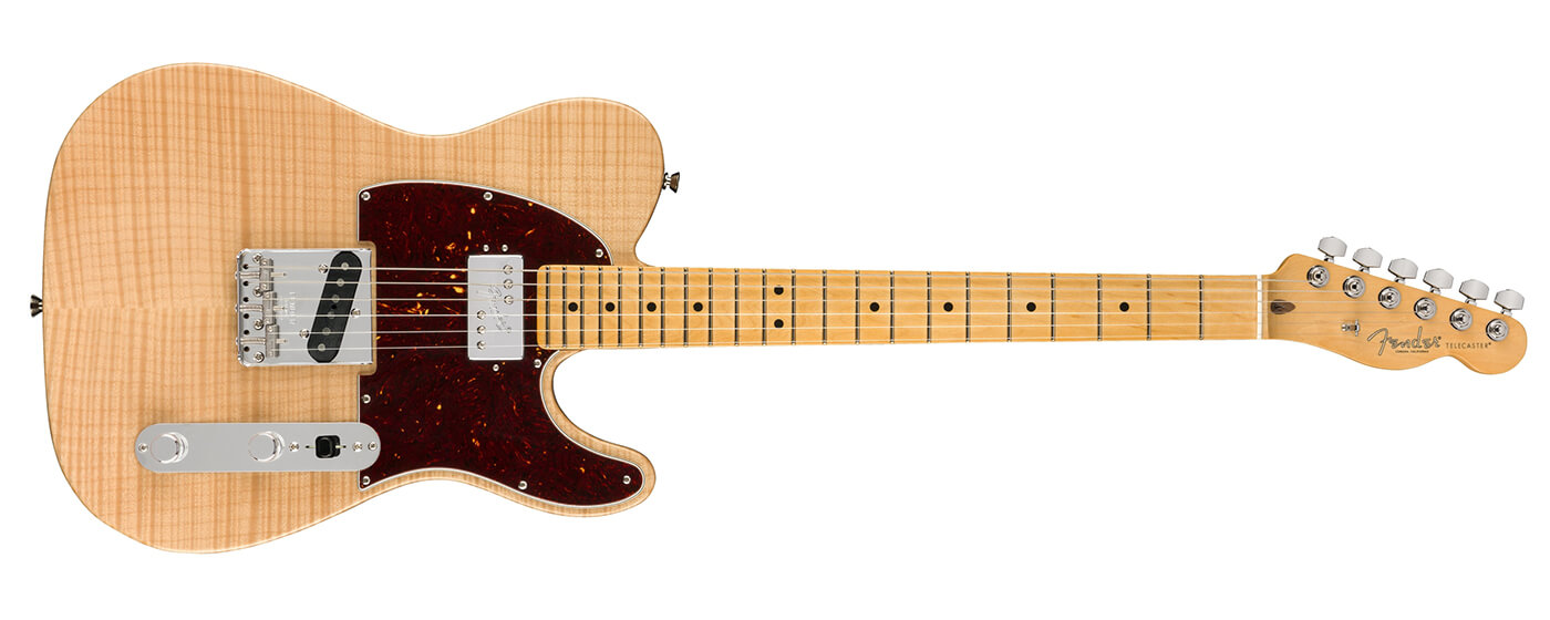 Fender Rarities Flame Maple Top Chambered Tele landscape