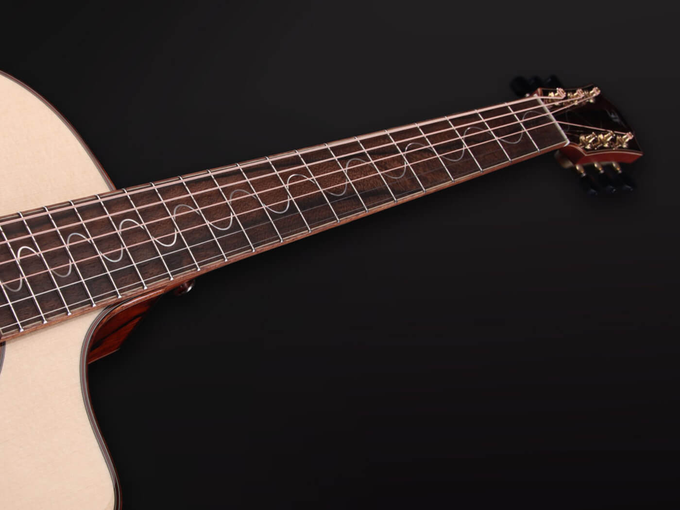 Furch 2019 limited edition GSc-LC wave-shaped inlay pattern