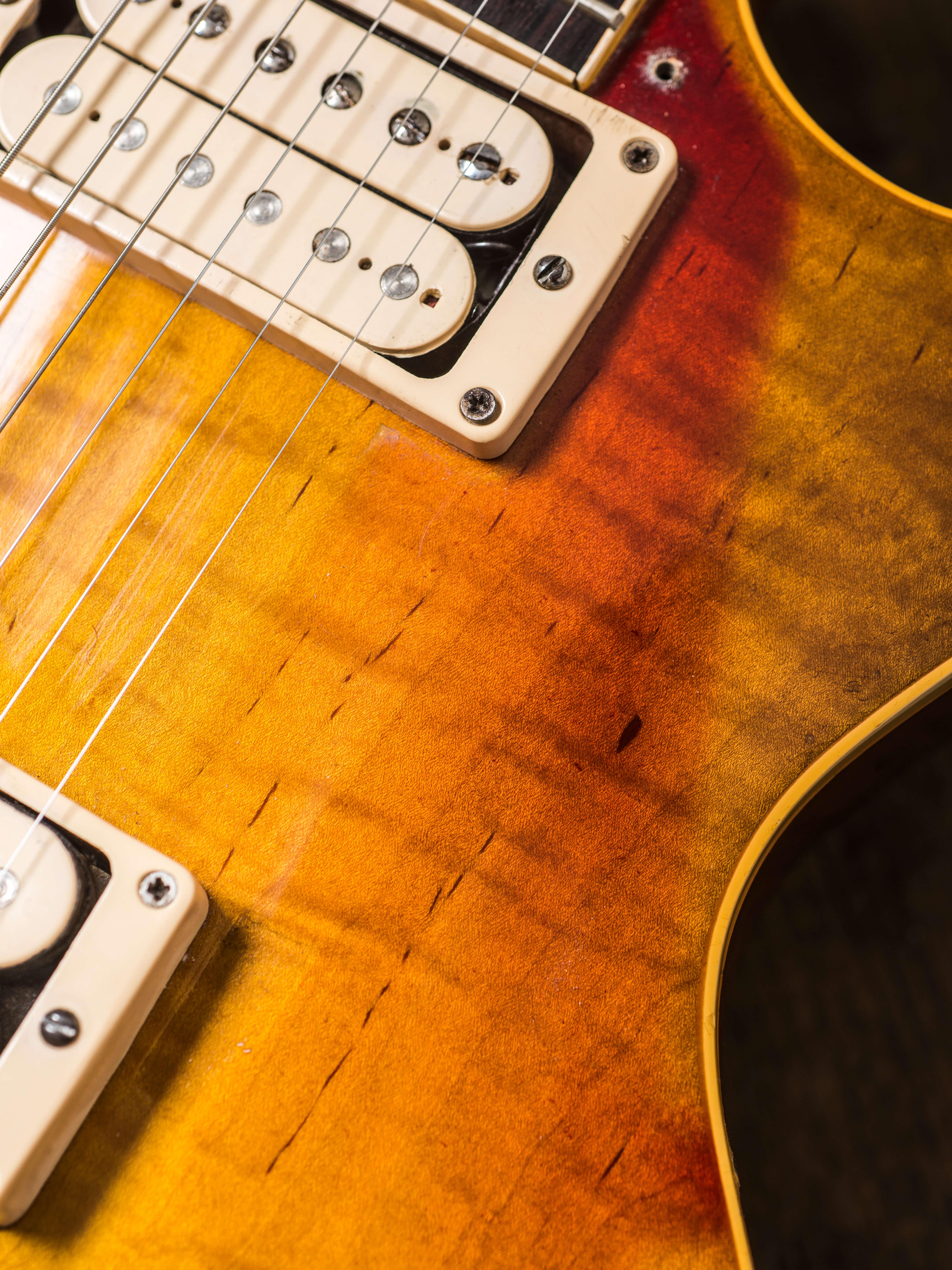 Gary Richrath 1959 Gibson Les Paul burst details