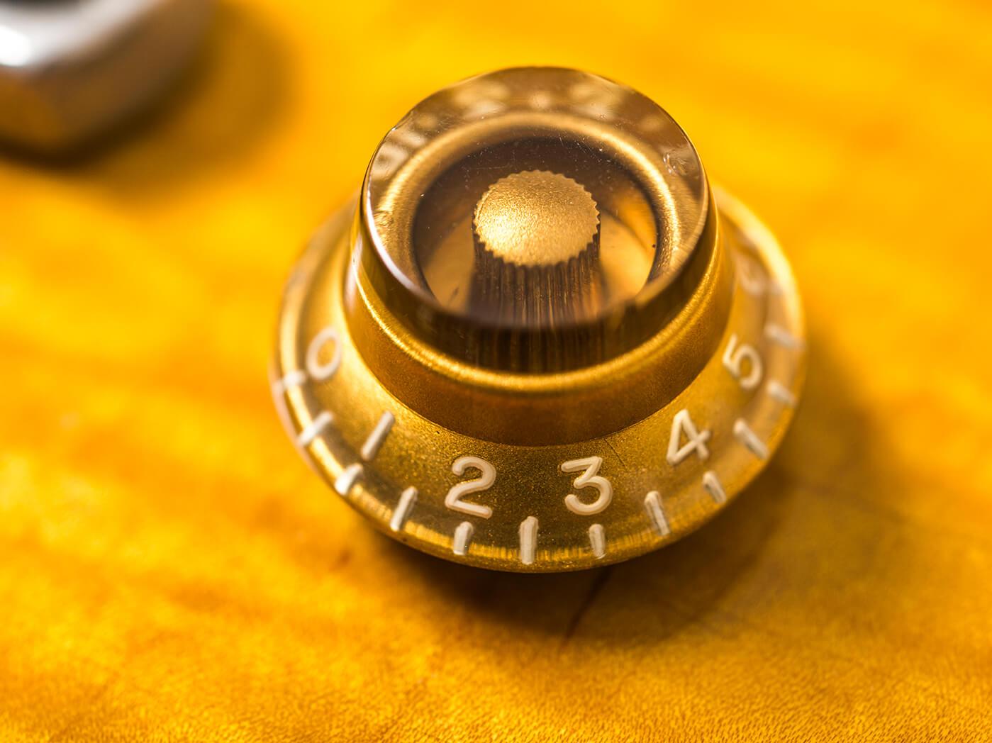 Gary Richrath 1959 Gibson Les Paul control knob close up