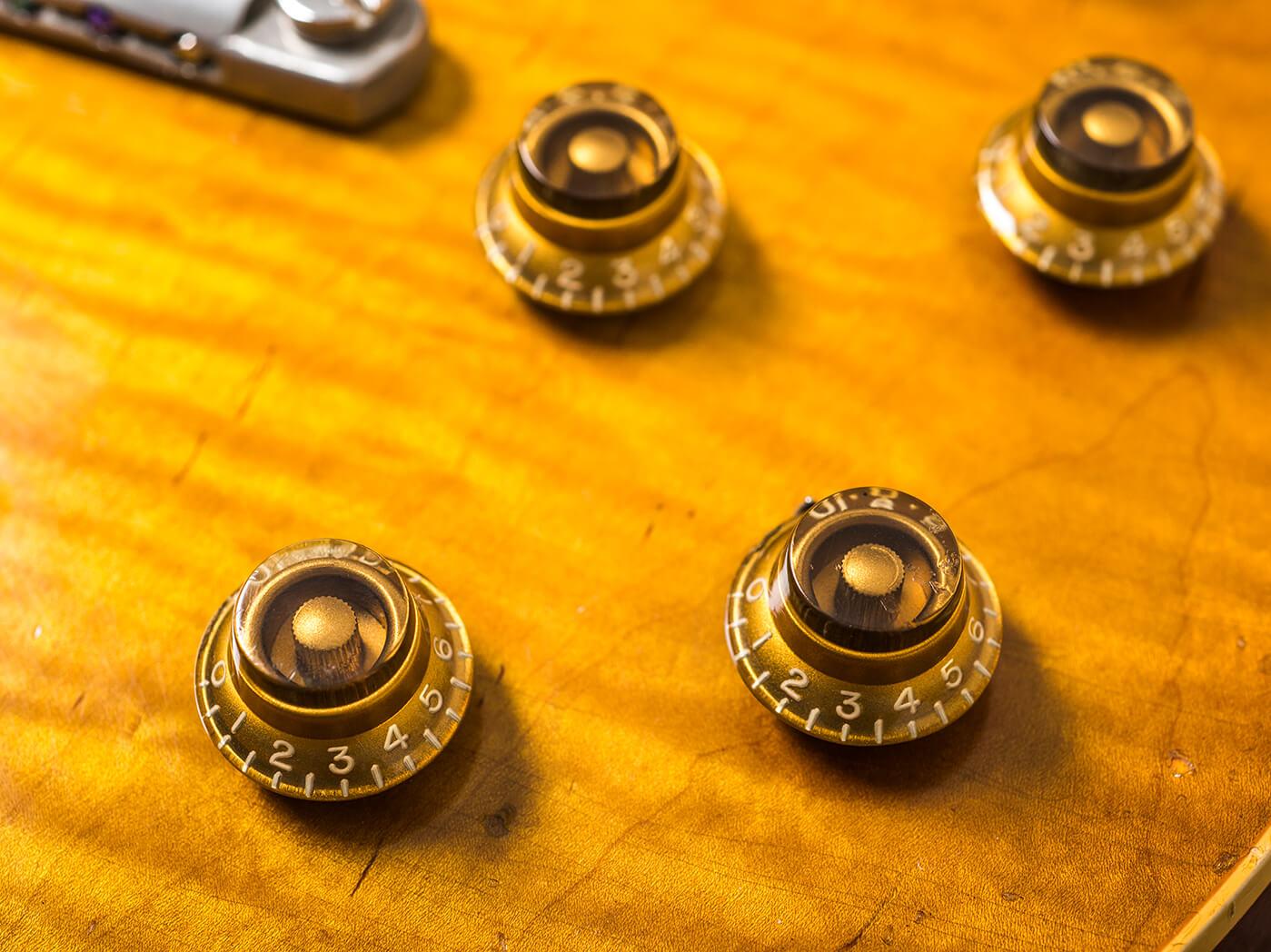 Gary Richrath 1959 Gibson Les Paul control knobs group shot