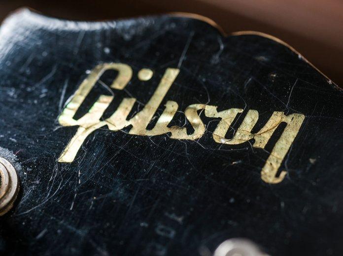 Gary Richrath 1959 Gibson Les Paul headstock logo