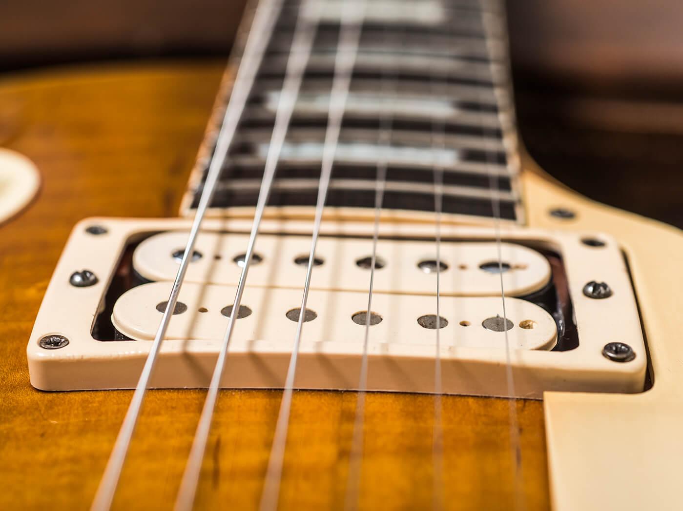 Gary Richrath 1959 Gibson Les Paul neck humbucker close up