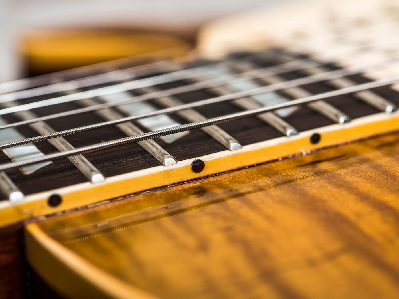 Gary Richrath 1959 Gibson Les Paul neck joint close up