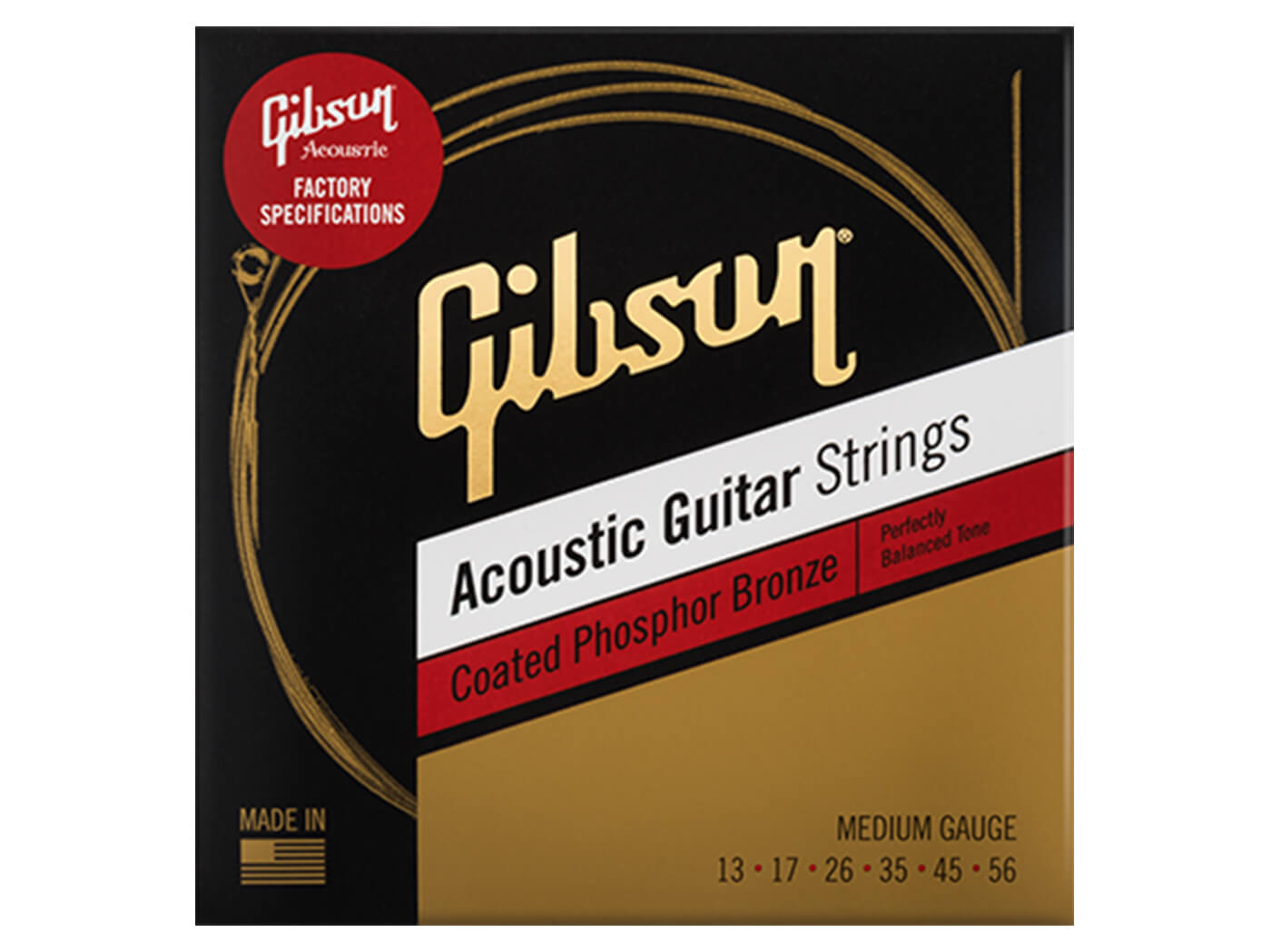Gibson Acoustic guitar strings medium gauge